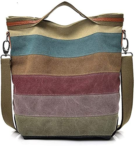 Amazon.com: Bolsas de hombro para mujer de lona Hobo Bolsas ...