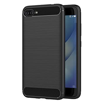 AICEK Funda ASUS Zenfone 4 MAX ZC520KL, Negro Silicona Fundas para Zenfone 4 MAX ZC520KL Carcasa ASUS ZC520KL Fibra de Carbono Funda Case (5,2 ...