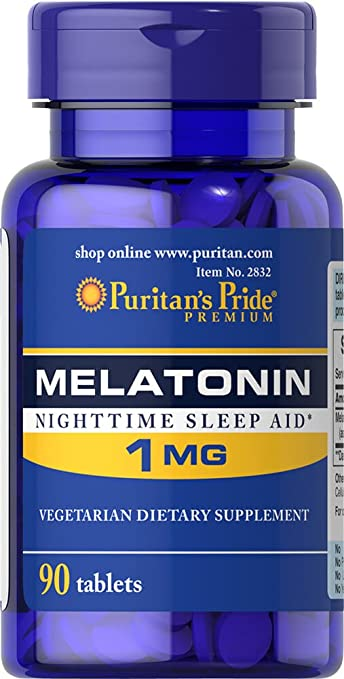 Puritans Pride Melatonin 1 mg-90 Tablets