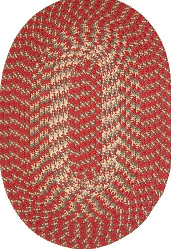 Robin Rug Hometown 8 x 11 Braided Rug in Colonial Red