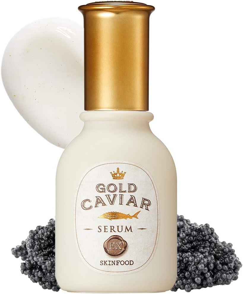 SKINFOOD Gold Caviar EX Serum 50ml (1.69 fl.oz) - Concentrated Caviar & Gold Anti-Wrinkle & Nourishing Skin Glow Serum, for Sagging and Aging Skin