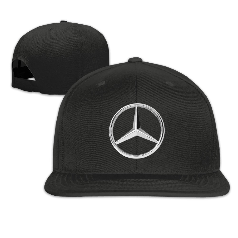 Hittings mkcook Mercedes Benz Logo Flat Bé isbol Caps Hats for Unisex Black