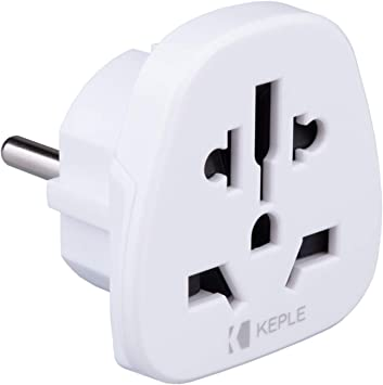 EU Europe European Adapter Plug Viaje Tipo F/C to a Spain France Italy IT Germany Portugal Denmark Greece Poland Turkey to UK USA US AUS Adaptador Universal Adaptor Enchufe Internacional 3 Pin: