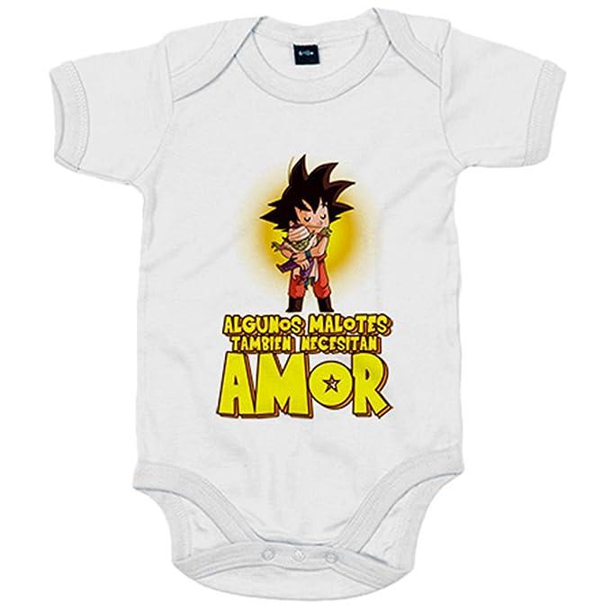 Body bebé Dragon Ball Goku algunos malotes también necesitan amor - Azul Royal, 6-12 meses: Amazon.es: Bebé