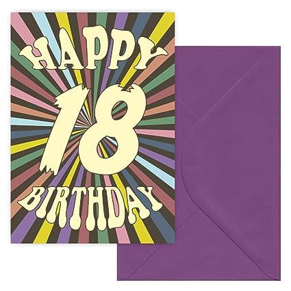 Tarjeta de felicitación de 18 cumpleaños: Amazon.es: Oficina ...