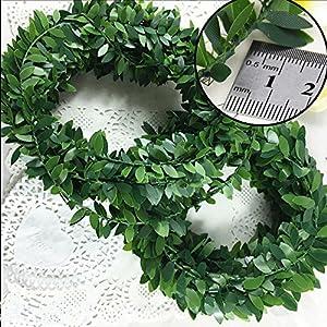 32.8 Yards Artificial Ivy Garland Foliage Green Leaves Fake Vine Headband Artificial Leaf Vine Fake Hanging Plants for Wedding Party Ceremony DIY Headbands 4