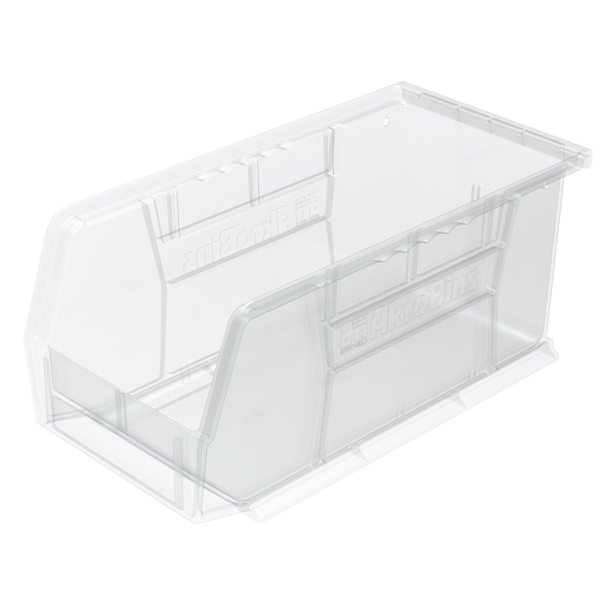 Akro-Mils 30230 Plastic Storage Stacking AkroBin, 11-Inch by 5-Inch by 5-Inch, Clear, Case of 12