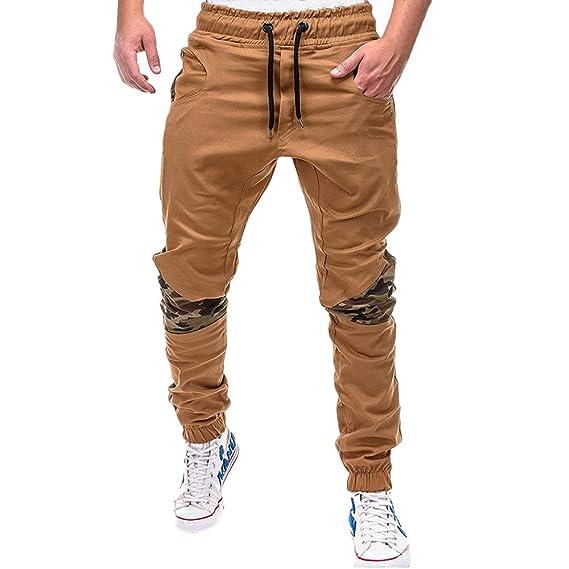 Amlaiworld Chándal de Trabajo Hombre Moda Pantalones Deportivos para Hombre Pantalones de chándal Sueltos Ocasionales con cordón Joggers: Amazon.es: Ropa y ...