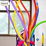Twisty Magic Long Balloons With Pump ,260Q Animal Balloons For Parties, Birthdays, Clowns, And Events Decoration,100pcs Mixed Color