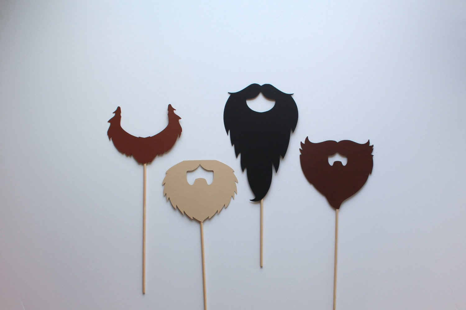 Beard Props for Photo Booth by Paper and Pancakes 12 Beards (3 Set)
