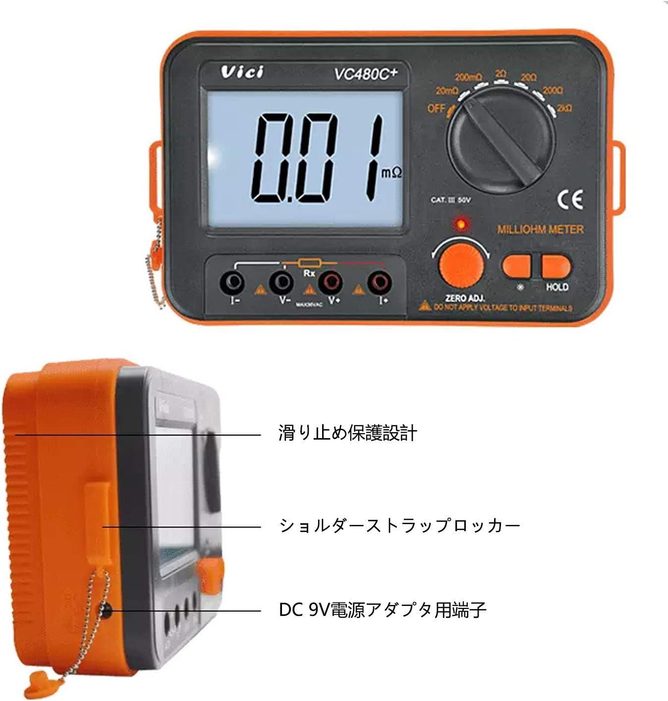 Medidor digital de milioh Prueba de 3 1/2 4 hilos con ...