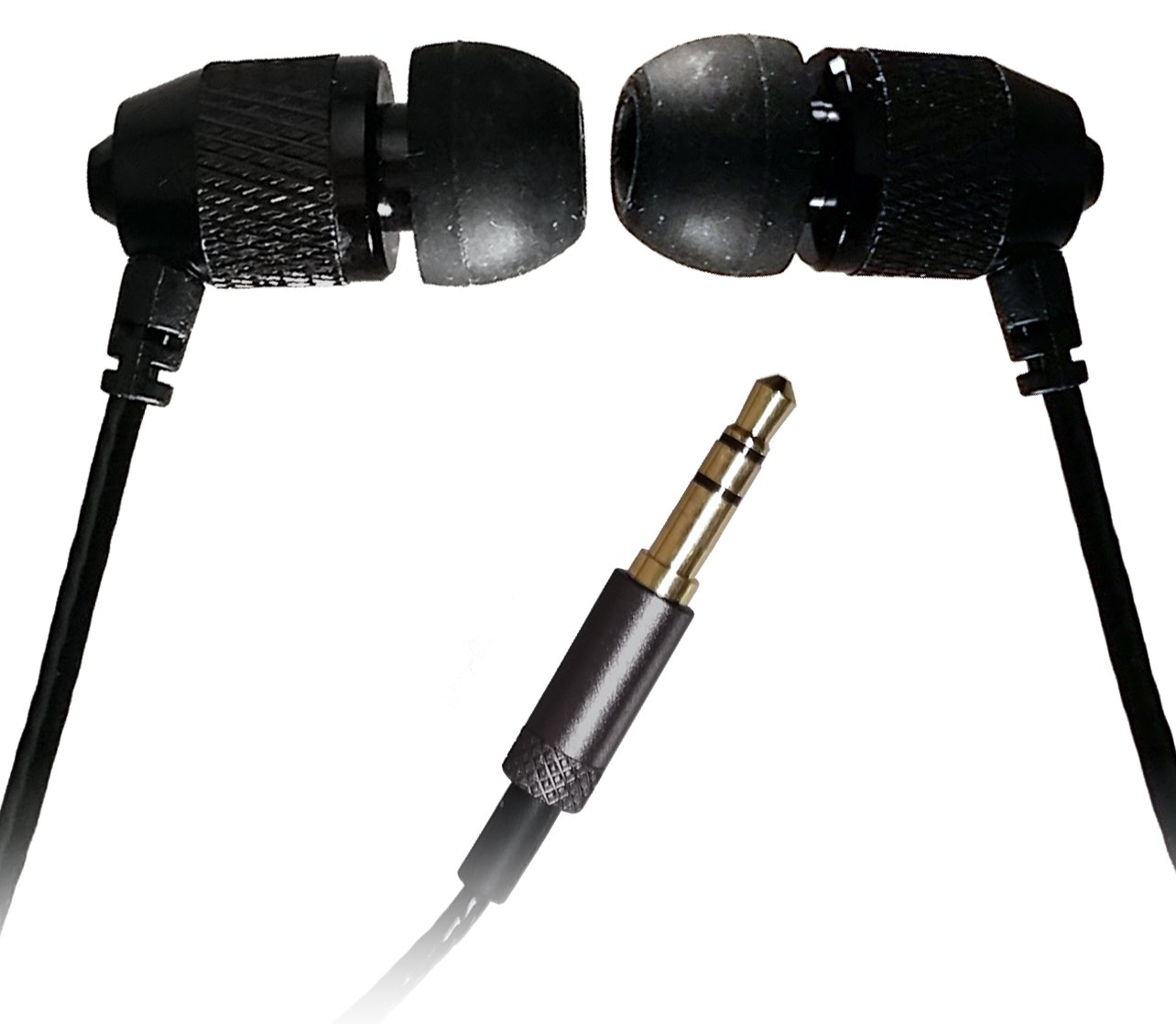 Short Buds - 15'' Cord Stereo Earbuds with Nylon-reinforced Cords for clip-on music players by Far End Gear