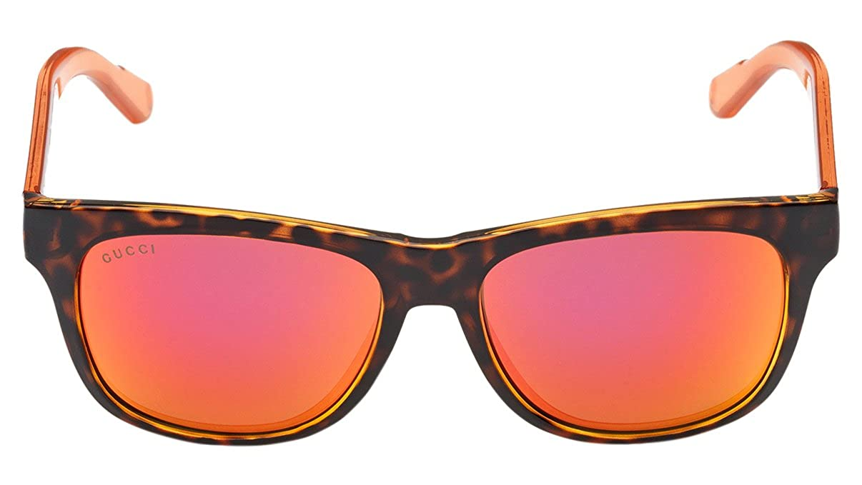 016f22762c Amazon.com  Gucci sunglasses GG 3709 S CHYUZ Acetate Havana - Transparent  Orange Brown with Red mirror effect  Clothing