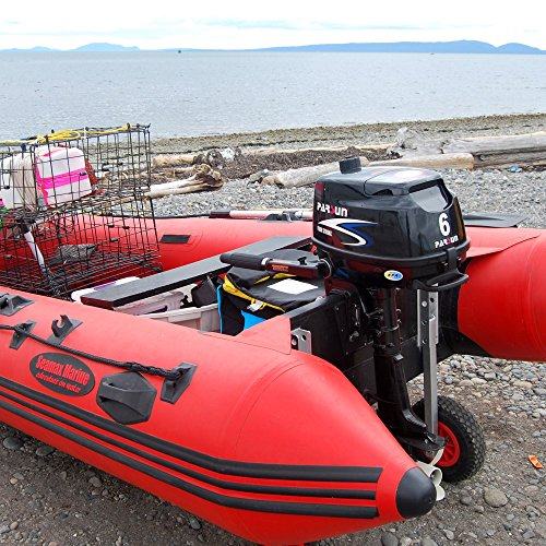 seamax easy load boat launching dolly 12 u201d wheels system for zodiac type inflatable boats