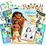 Disney Moana Coloring and Activity Book with Over 30 Moana Stickers and Bonus Temporary Tattoos (Moana Party Supplies)