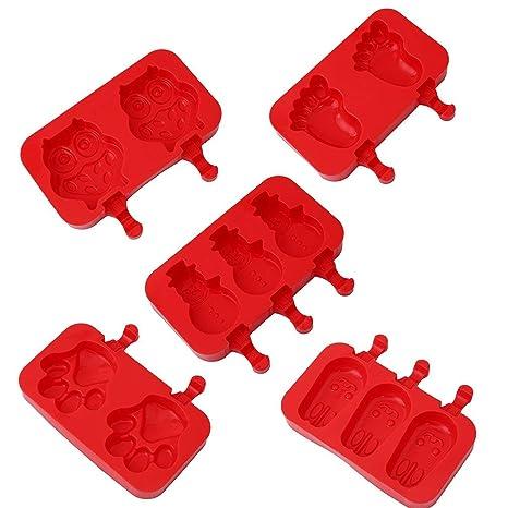 Ting-Times Popsicle Moldes para paletas 1PC Silicona Animales Lindos Fabricante de moldes para Helados