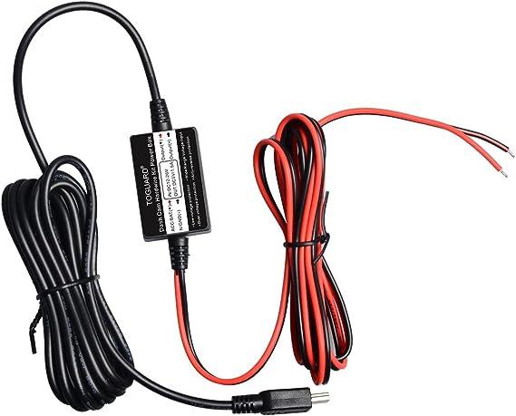 Car dash camera cam hard wire kit mini USB for car camcorder DVR 12V//24V to 5V P