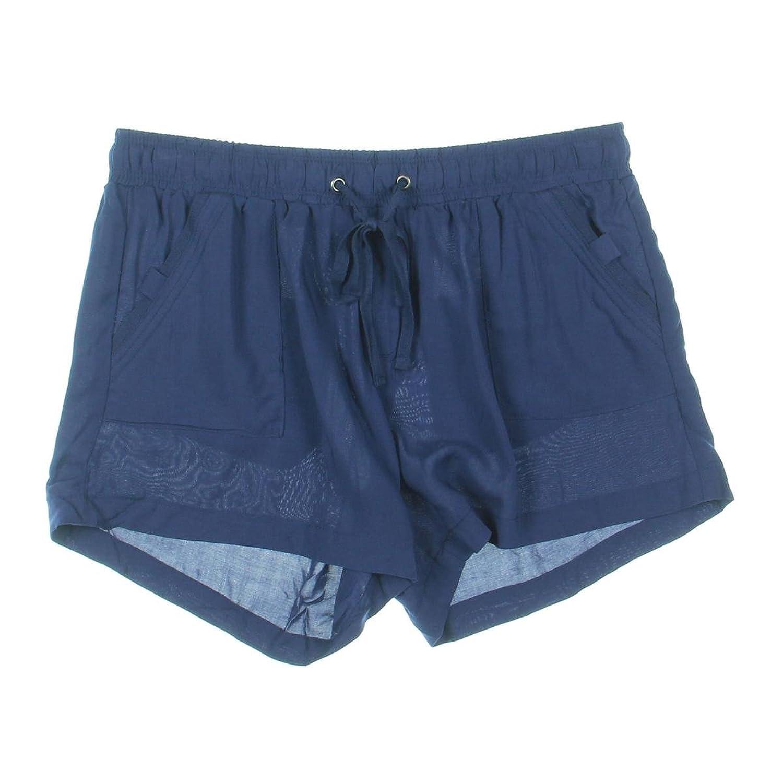 Rewash Womens Juniors Drawstring Patch Pockets Casual Shorts