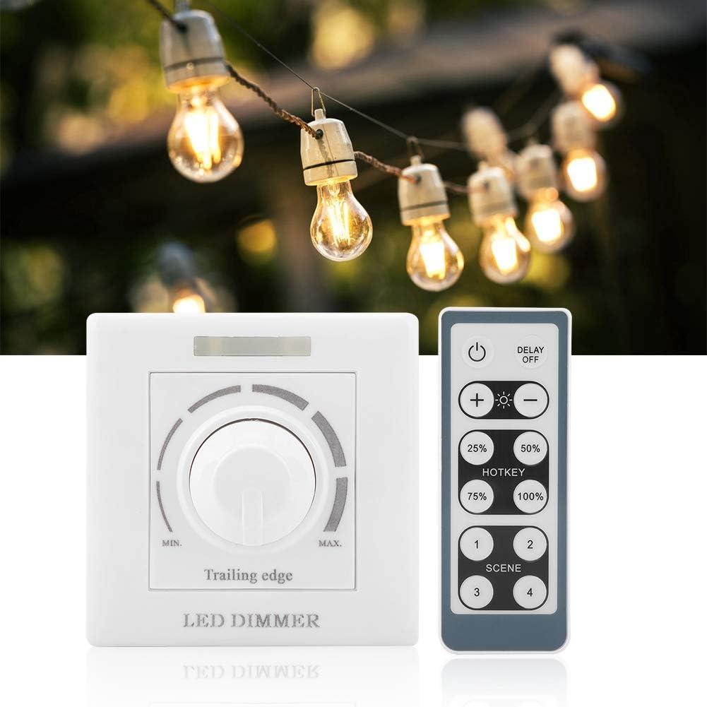 Samfox Dimmer Switch 110V 200W LED Light Dimmer Switch Control de Brillo con Control Remoto