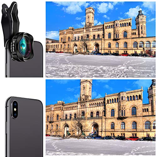 Phone Camera Lens, AiKEGlobal 2 in 1 Macro Lens,Wide Angle Lens, Universal Cell Phone Lens Kit Great Compatible iPhone, Android, iPad and Tablets by AiKEGlobal (Image #2)