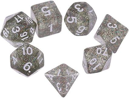 Exing 7 PCS Dados rol Poliedricos D4 D6 D8 D10 D12 D20 Calabozos Dragones D&D RPG Juego: Amazon.es: Hogar