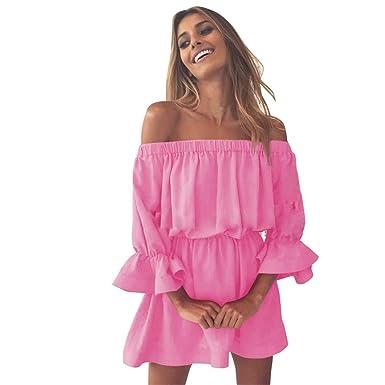 Sommerkleid Damen,Hevoiok Partykleid Sexy Elegant Flare Sleeve ...