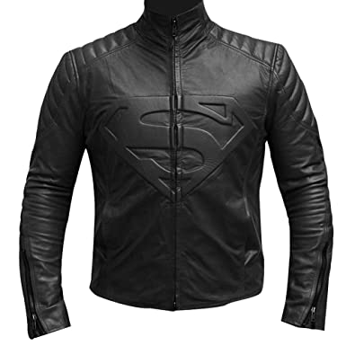 006e431df Streamline choice Mens Smallville Tom Welling Superman Real Leather ...