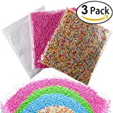 Foam Balls, Styrofoam Foam Balls 0.1-0.18 Inch Household School Arts Crafts Supplies Fits For Stick to Slime - Assorted Colors (3 Pack)