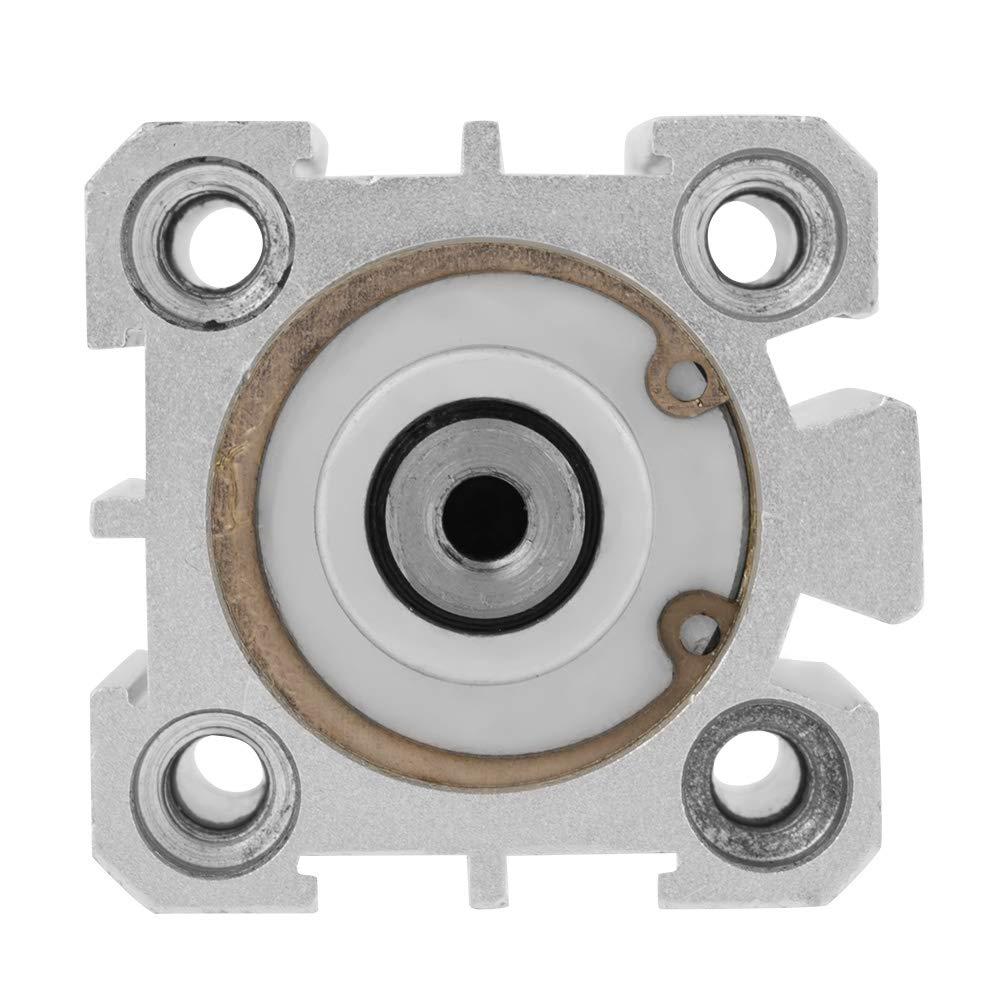 Pasamer 1Pcs SDA 25x30 Cilindro neum/ático neum/ático de Aluminio de Doble acci/ón Compacto de Plata