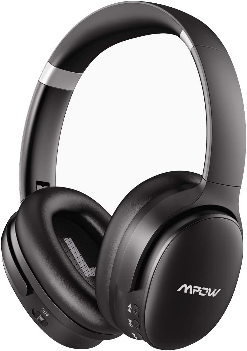 Mpow H10 Dual-Mic Noise Cancelling Bluetooth Headphones, [2020 Edition] ANC Over-Ear Wireless Headphones with CVC 6.0 Microphone, Hi-Fi Deep Bass, 30Hrs Playtime for TV/PC/Phone/Travel/Work