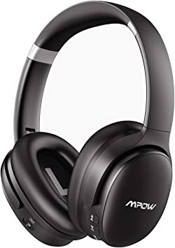 Amazon Com Mpow H10 Upgarde Noise Cancelling Headphones Bluetooth Headphones Over Ear With Microphones Hi Fi Deep Bass Memory Protein Earmuffs 30h Playtime For Tv Travel Online Class Home Office By Mpow Electronics