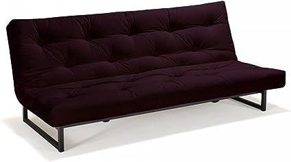 Futon sofá Fraction – Dormir sofá 120 x 200 cm con Futon & somier, Color y Futon a Elegir.