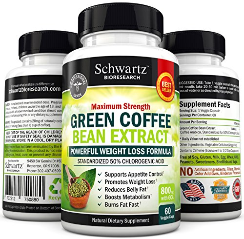 FLASH SALE Green Coffee Bean Extract 800mg with GCA - Extra Strength  Buy 3 & 1 is FREE Use code GRCB3G1F  50% Chlorogenic Acid - Lose Weight Naturally - No Side Effects - Money Back Guarantee