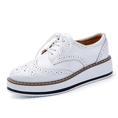 AARDIMI Chaussures à Lacets Femme