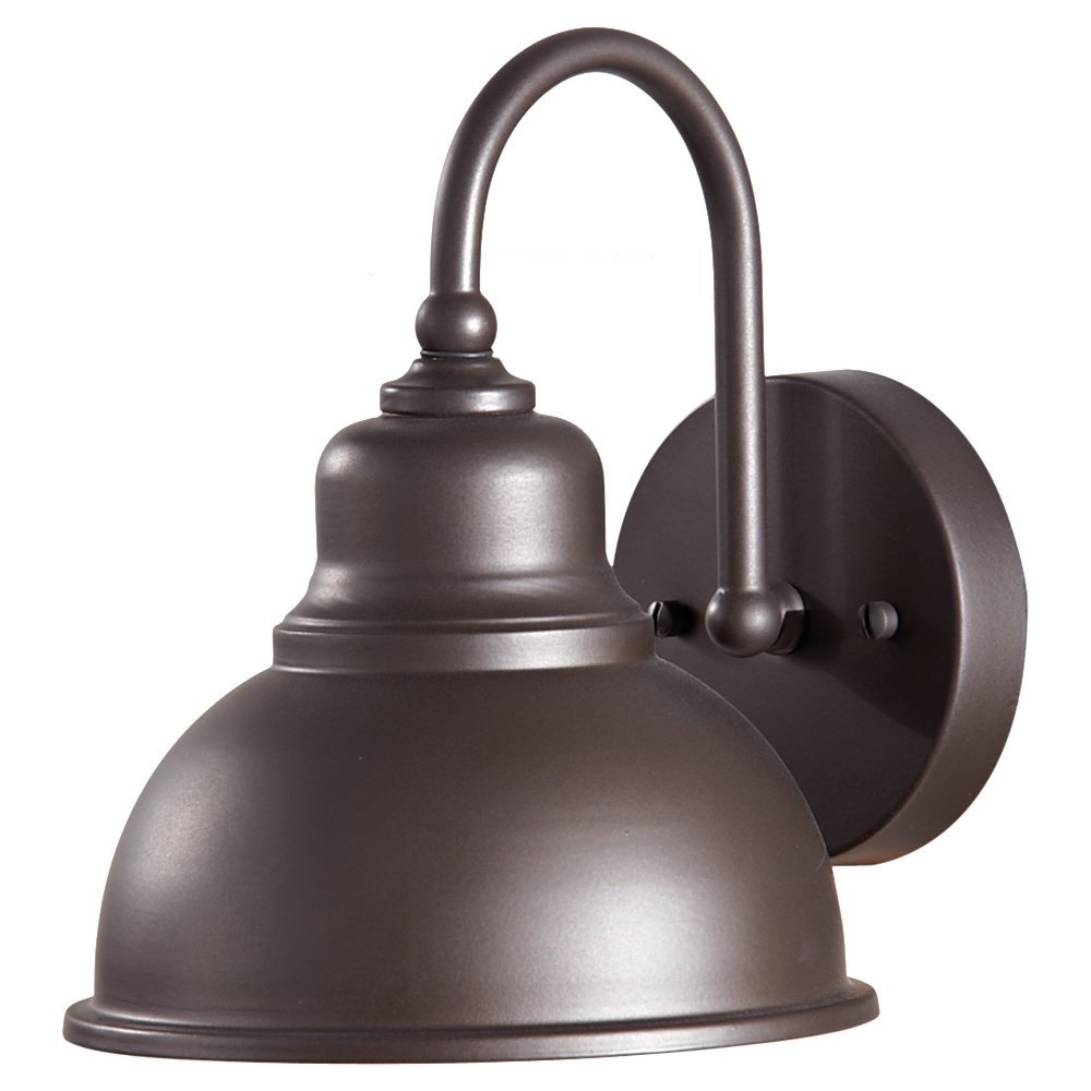 "Feiss OL8701ORB Darby Outdoor Patio Lighting Wall Lantern, Bronze, 1-Light (8""W x 9""H) 100watts"