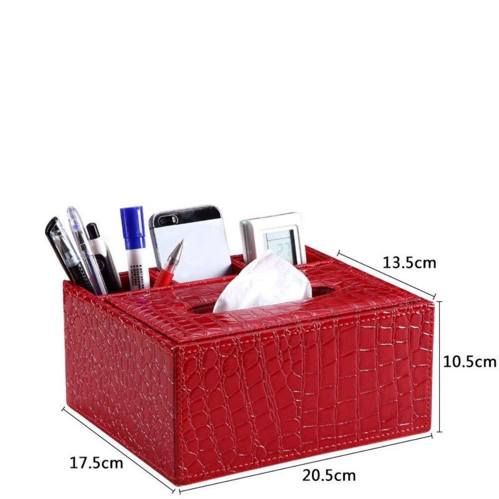 SHUCHANGLE Tissue Box Halter Kosmetiktücher-Box Multifunktionsspeicher Pu-Leder Kreatives Design Serviettenhalter Für Wohnzimmer, E B07NSSSZMG Toilettenpapieraufbewahrung