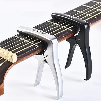 Uktunu T3 Cejilla Guitarra Guitarra Capo Electrónica Clásica Acústica Aleación de Aluminio Fácil de poner duradero Muy Robusto y Rápido de colocar: ...