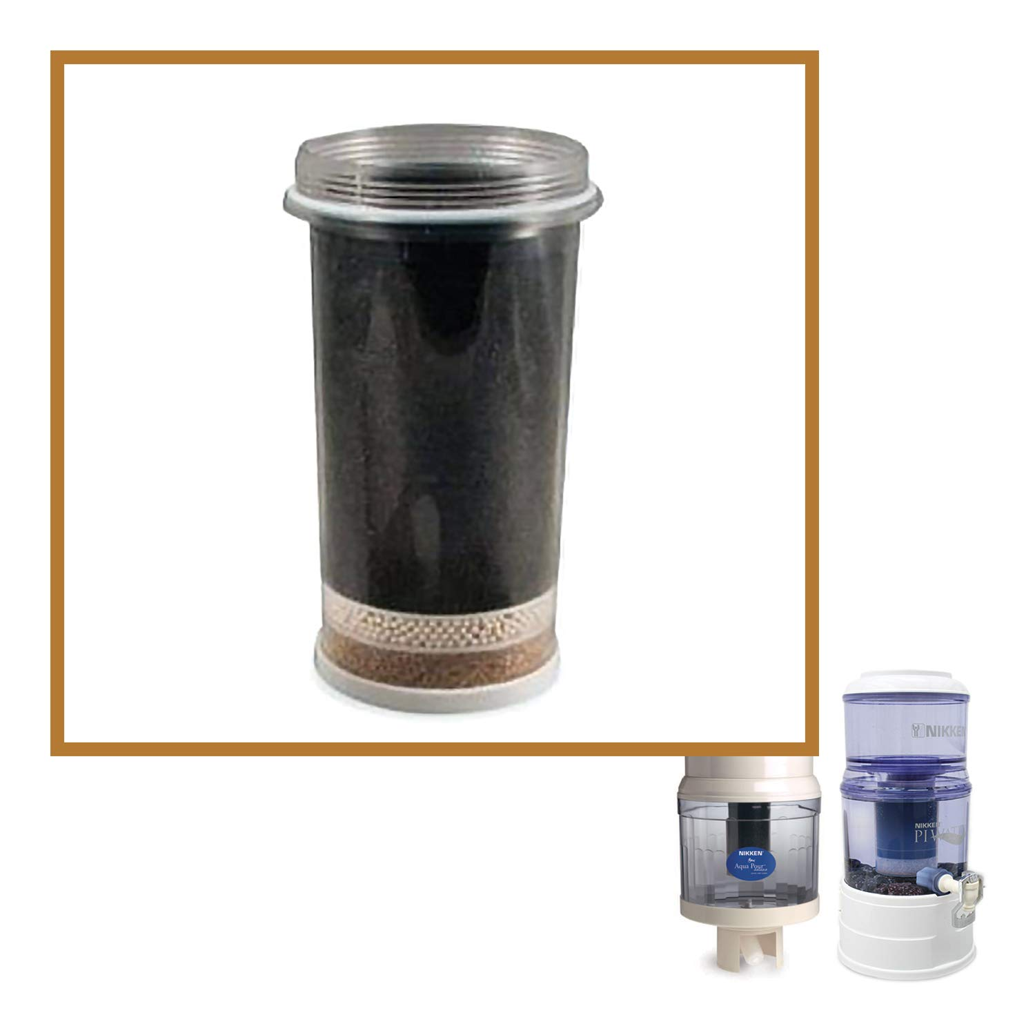 Nikken Aqua Pour 1 Filter Cartridge - 1361, Advanced Replacement for Gravity Water Filter Purifier System 1360, PiMag Water System, Produce Alkaline Water, Benzene, Radon and Solvents - Filtro De Aqua by Nikken