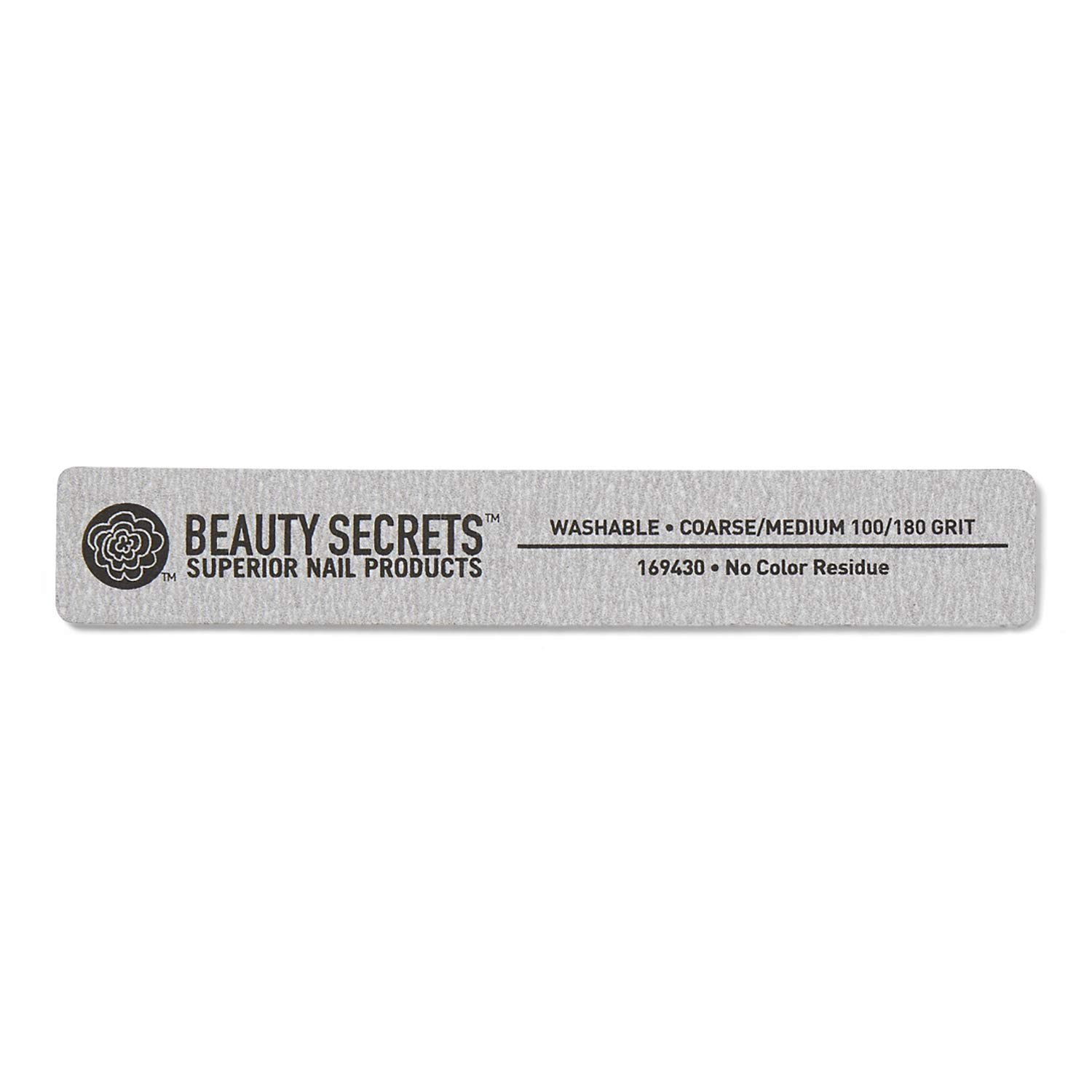 Beauty Secrets 100/180 Rectangle Zebra Cushion Nail File