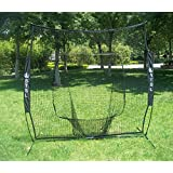 PowerNet Baseball and Softball Practice Net 7 x 7 with bow frame (w/ LIFETIME WARRANTY) by PowerNet