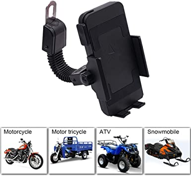 Soporte Movil Moto Bici,Soporte Movil Bicicleta con Rotación 360 ...