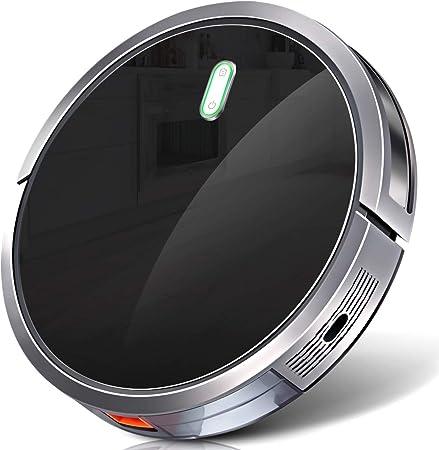 Robot Aspirador con 1400Pa Fuerte Succión, batería de 2600 mAh ...