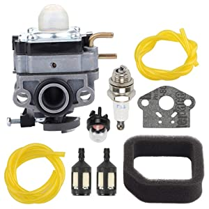 Fuel Li 75306258A Carburetor 560873001 Air Filter for Ryobi RY252CS RY253SS RY251PH RY254BC Models 2 Cycle 25cc 2 25.4cc Engine Curved Shaft Gas Cultivator String Trimmer Rep 307160001 316299372