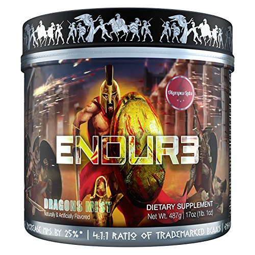 ENDUR3 Intra Workout BCAA Supplement | 4:1:1 Ratio of Trademarked Amino Acid Blend at Clinical Dosage | Best Drink for Endurance & Recovery | 30 Servings (Unicorns Blood) Review