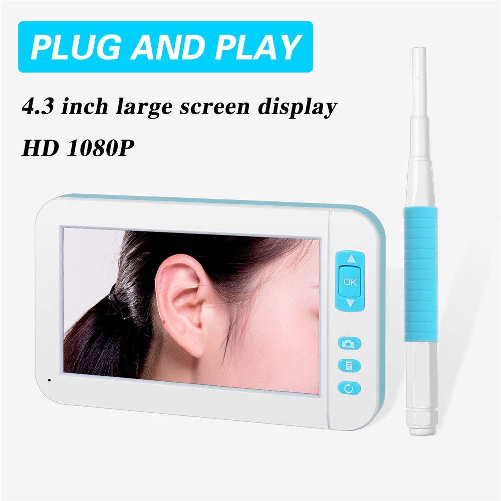 New Landing 4.3 Inch Large Screen HD Display 1080p 3.9MM WiFi Ear Otoscope Wireless Digital Endoscope Ear Camera by New Landing