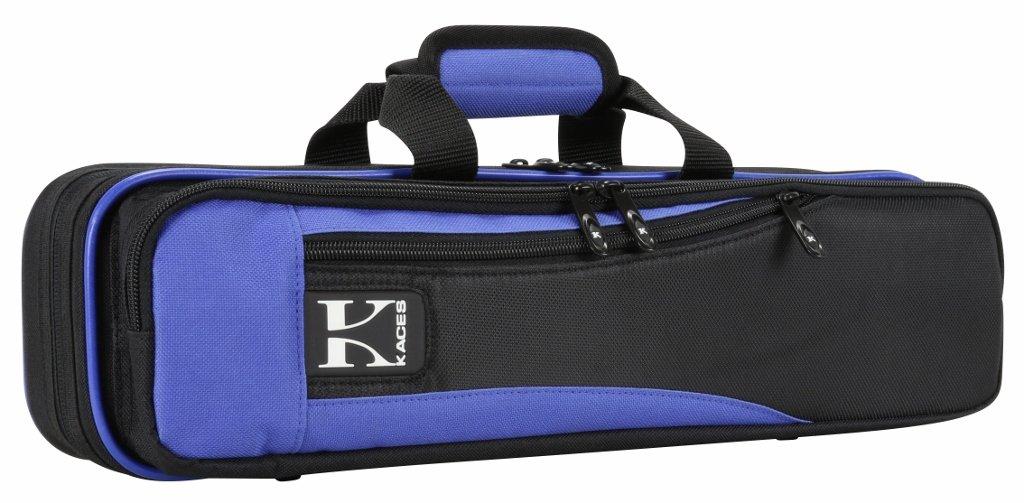 Kaces Lightweight Hardshell Flute Case, Blue, KBO-FLBL