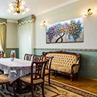 Gbwzz Grande Albero d'oro Pittura a Olio a Mano Decorazione della casa spatola Coltello Pittura di Paesaggio per la Decorazione Domestica di Nozze Wall Art