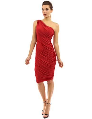 Review PattyBoutik Women's One Shoulder Cocktail Dress