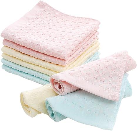 ECHERY 9 piezas de algodón dulce bebé toalla toallitas toallas de ...