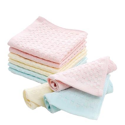 ECHERY 9 piezas de algodón dulce bebé toalla toallitas toallas de baño reutilizables toallas de ducha